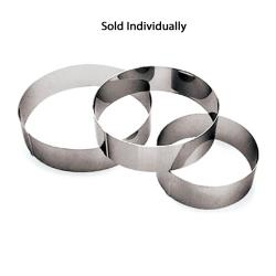 World Cuisine - 47534-24 - 9 1/2 in x 2 3/8 in Stainless Steel Ice Cake Ring image