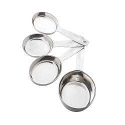 Tablecraft - H625 - 4 pc Heavy Weight Stainless Steel Measuring Cup Set image