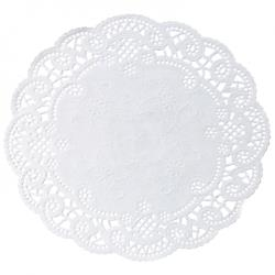 Hoffmaster - 500530 - 4 in French Lace Paper Doilies image