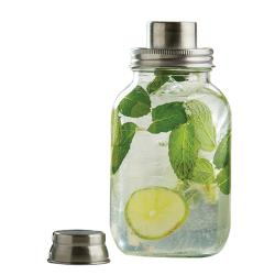 Tablecraft - MJS14 - 14 oz Mason Jar Bar Shaker w/ Metal Top image