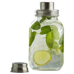 Tablecraft - MJS30 - 30 oz Mason Jar Cocktail Shaker w/ Metal Top image