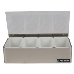 San Jamar - B4124L - 4 pt Non-Chilled Garnish Tray image