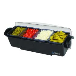 San Jamar - BD4004 - 6 qt The Dome® Condiment Center image