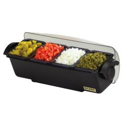 San Jamar - BD4014 - 3 qt The Dome® Condiment Center image