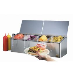 San Jamar - FP8244FL - EZ-Chill™ 4-Pan 2-Lid Self-Service Center image