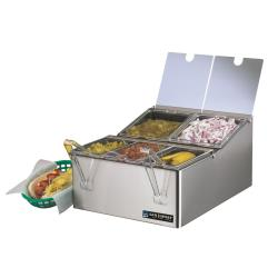 San Jamar - FP9125FL - EZ-Chill™ 5-Pan 5-Lid Self-Service Center image
