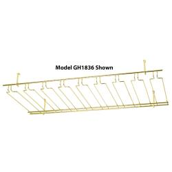 Winco - GH-1836 - 18 in x 36 in Brass Glass Rack image