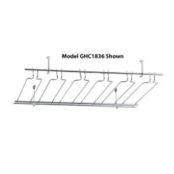 Winco - GHC-1848 - 18 in x 48 in Chrome Glass Rack image