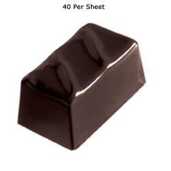 World Cuisine - 47860-46 - (40) Polycarb Rippled Rectangle Chocolate Mold image