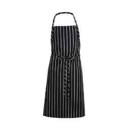 Chef Works - A100-BCS - Black Chalk Stripe English Chef Apron image