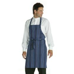 Chef Works - A500-NFW - Navy/White Striped Bib Apron image