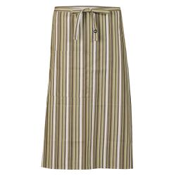 Chef Works - F24-LIW - Lime/White/Brown Striped Bistro Apron image
