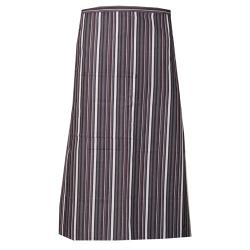 Chef Works - F24-MEG - Merlot/Gray/White Striped Bistro Apron image