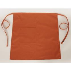 Chef Works - F24-SHORT-RUS - Short Bistro Apron- Rust image