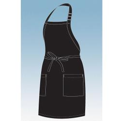 Chef Works - F53-BLK - Black Two Patch Pocket Apron image