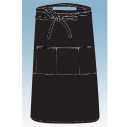 Chef Works - REVF24 - Black Reversible Three Pocket Apron image