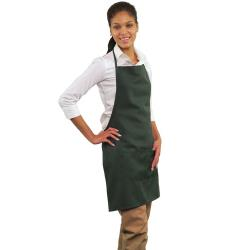 RDW - A9025H - 2 Pocket Hunter Green Bib Apron image