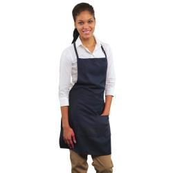 RDW - A9025N - 2 Pocket Navy Blue Bib Apron image