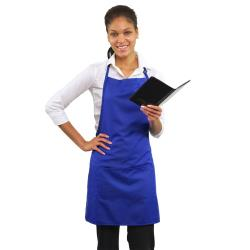 RDW - A9025RB - 2 Pocket Royal Blue Bib Apron image