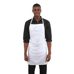 RDW - B9005WT - White No Pocket Bib Apron image