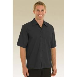 Chef Works - C100-BLK-S - Black Café Shirt (S) image
