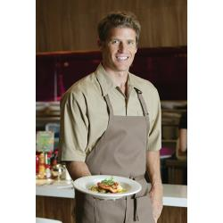 Chef Works - C100-KHA-XL - Khaki Café Shirt (XL) image