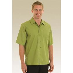 Chef Works - C100-LIM-M - Lime Café Shirt (M) image