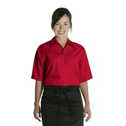 Chef Works - C100-RED-XS - Red Café Shirt (XS) image