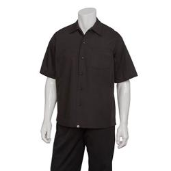 Chef Works - CSCV-BLK-L - Black Cook Shirt (L) image