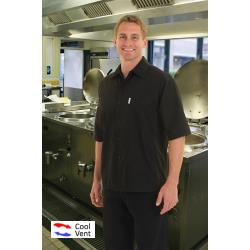 Chef Works - CSCV-BLK-XS - Black Cook Shirt (XS) image