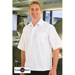 Chef Works - CSCV-WHT-XS - White Cook Shirt (XS) image
