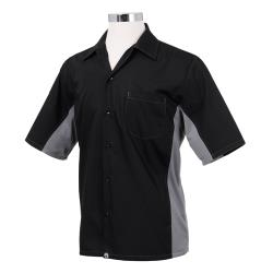 Chef Works - CSMC-BLM-M - Cool Vent Black/Gray Shirt (M) image