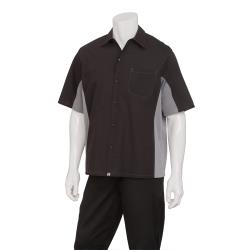 Chef Works - CSMC-BLM-S - Cool Vent Black/Gray Shirt (S) image