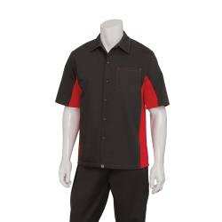 Chef Works - CSMC-BRM-L - Cool Vent Black/Red Shirt (L) image