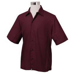 Chef Works - CSMV-MER-L - Cool Vent Merlot Shirt (L) image