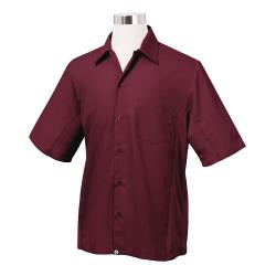 Chef Works - CSMV-MER-S - Cool Vent Merlot Shirt (S) image