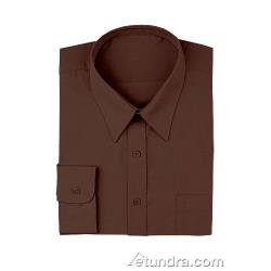 Chef Works - D100-CHO-L - Chocolate Dress Shirt (L) image