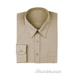 Chef Works - D100-TAN-M - Tan Dress Shirt (M) image