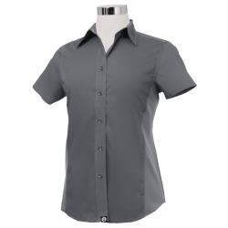 Chef Works - CSWV-GRY-S - Women's Cool Vent Gray Shirt (S) image