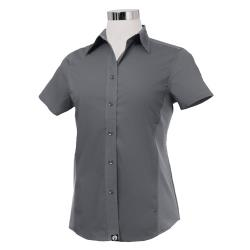 Chef Works - CSWV-GRY-XS - Women's Cool Vent Gray Shirt (XS) image