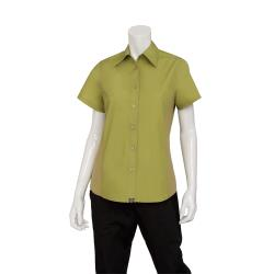 Chef Works - CSWV-LIM-2XL - Women's Cool Vent Lime Shirt (2XL) image
