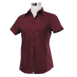 Chef Works - CSWV-MER-M - Women's Cool Vent Merlot Shirt (M) image