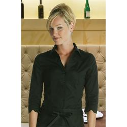 Chef Works - WA34-BLK-XS - Women's Finesse Fitted Shirt (XS) image