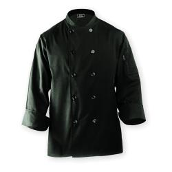Chef Works - BAST-BLK-XL - Bastille Black Chef's Coat (XL) image