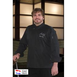 Chef Works - BLDF-XL - Cool Vent New Yorker Chef Coat (XL) image