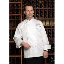 Chef Works - ECCB-4XL-62 - Monte Carlo Chef Coat (4XL) image
