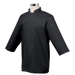 Chef Works - JLCL-BLK-3XL - (3XL) Black 3/4 Sleeve Coat image
