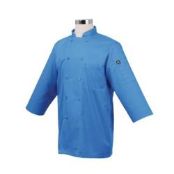 Chef Works - JLCL-BLU-2XL - (2XL) Blue 3/4 Sleeve Coat image