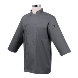 Chef Works - JLCL-GRY-2XL - (2XL) Gray 3/4 Sleeve Coat image