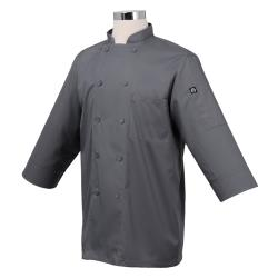 Chef Works - JLCL-GRY - Cool Vent Gray 3/4 Sleeve Coat (XS) image